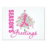 Árbol de cinta rosado de los saludos de la comunicado personal