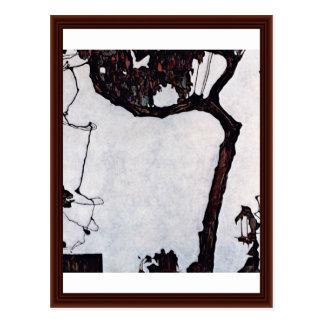 Árbol de ciruelo de Schiele Egon Postal
