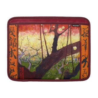 Árbol de ciruelo floreciente de Van Gogh después Funda MacBook