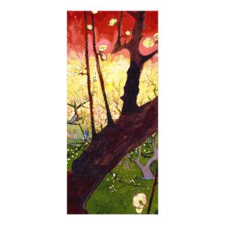 Árbol de ciruelo floreciente de Van Gogh después Plantillas De Lonas