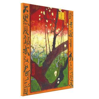 Árbol de ciruelo floreciente de Van Gogh Hiroshig Impresión De Lienzo