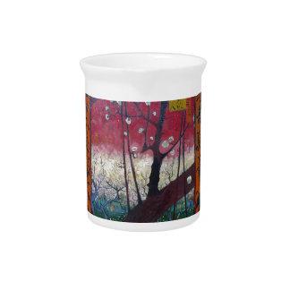 Árbol de ciruelo floreciente de Van Gogh Jarron