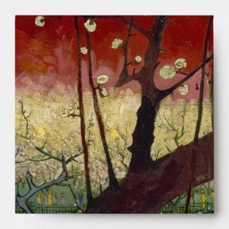 Árbol de ciruelo floreciente de Van Gogh Sobre