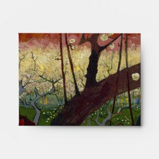 Árbol de ciruelo floreciente de Van Gogh Sobres