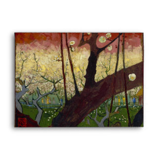 Árbol de ciruelo floreciente de Vincent van Gogh Sobres
