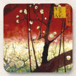 Árbol de ciruelo floreciente después de Hiroshige Posavaso