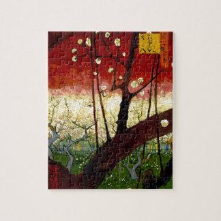 Árbol de ciruelo floreciente después de Hiroshige Puzzle