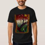 Árbol de ciruelo floreciente (después de playera
