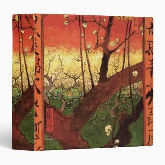 """Árbol de ciruelo floreciente japonés de Van Gogh, Carpeta 1 1/2"""""""