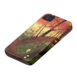 Árbol de ciruelo floreciente japonés de Van Gogh,  Case-Mate iPhone 4 Protectores
