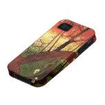 Árbol de ciruelo floreciente japonés de Van Gogh, iPhone 4/4S Carcasas