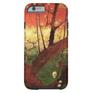 Árbol de ciruelo floreciente japonés de Van Gogh, Funda Resistente iPhone 6