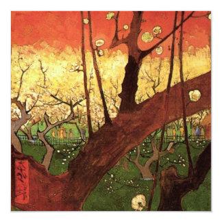Árbol de ciruelo floreciente japonés de Van Gogh, Invitación 13,3 Cm X 13,3cm
