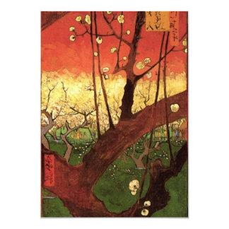 Árbol de ciruelo floreciente japonés de Van Gogh, Invitación 12,7 X 17,8 Cm