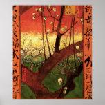 Árbol de ciruelo floreciente japonés de Van Gogh,  Impresiones