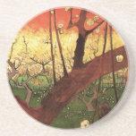 Árbol de ciruelo floreciente japonés de Van Gogh, Posavasos Manualidades