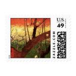 Árbol de ciruelo floreciente japonés de Van Gogh, Sellos
