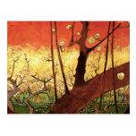 Árbol de ciruelo floreciente japonés de Van Gogh, Postal