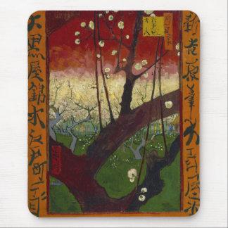 Árbol de ciruelo floreciente Mousepad