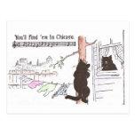 Árbol de Cliimbs del gato para ver a Srta. Kitty Postal
