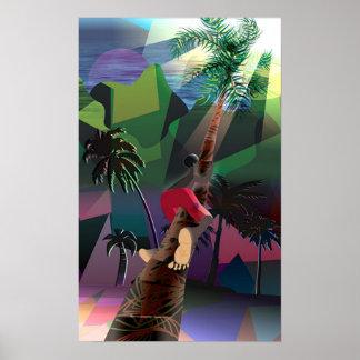 Árbol de coco póster