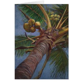 Árbol de coco tarjeta de felicitación