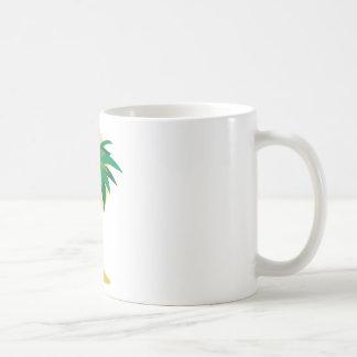 Árbol de coco taza básica blanca