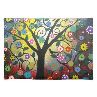 Árbol de colores POR las esteras de lugar de MoJo  Mantel