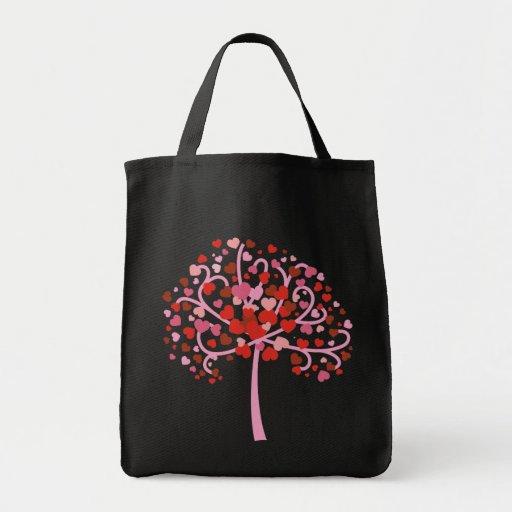 Árbol de corazones bolsa de mano