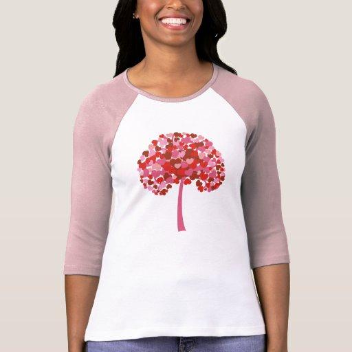 Árbol de corazones camiseta