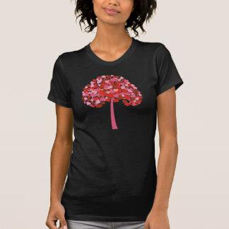 Árbol de corazones camisetas