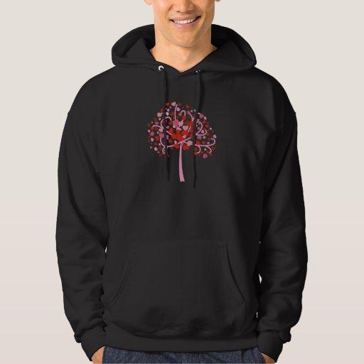 Árbol de corazones jersey con capucha