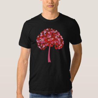 Árbol de corazones remeras