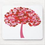 Árbol de corazones tapetes de ratones