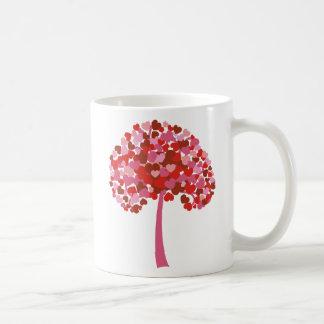 Árbol de corazones taza clásica