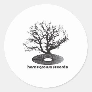 Árbol de cosecha propia pegatina redonda