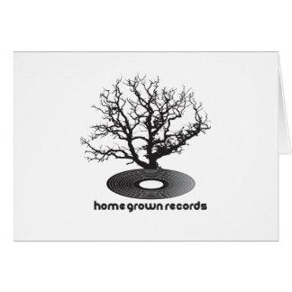 Árbol de cosecha propia tarjeta de felicitación