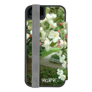 Árbol de Crabapple en el diseño de la floración Funda Billetera Para iPhone 5 Watson
