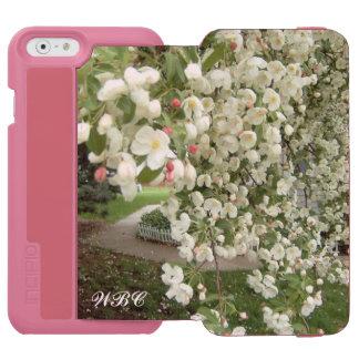Árbol de Crabapple en el diseño de la floración Funda Billetera Para iPhone 6 Watson