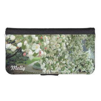 Árbol de Crabapple en modelo femenino floral de la Funda Billetera Para Teléfono