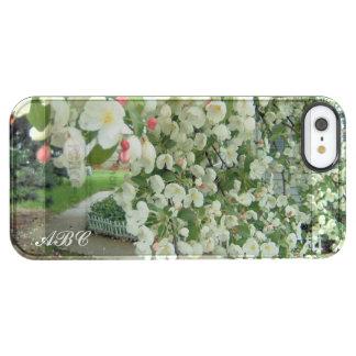 Árbol de Crabapple en modelo femenino floral de la Funda Clear Para iPhone SE/5/5s