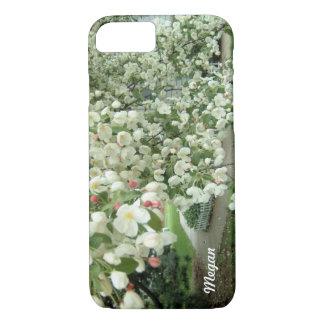Árbol de Crabapple en modelo femenino floral de la Funda iPhone 7