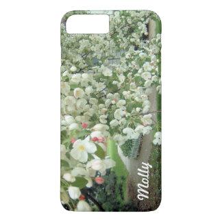 Árbol de Crabapple en modelo femenino floral de la Funda iPhone 7 Plus