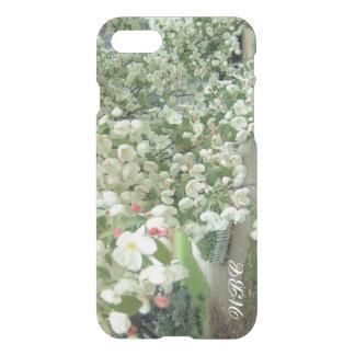 Árbol de Crabapple en modelo femenino floral de la Funda Para iPhone 7