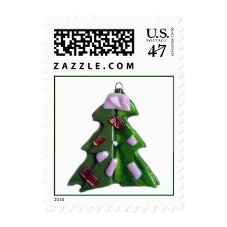 Árbol de cristal 2 sellos postales