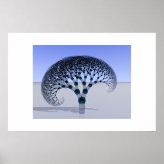Árbol de cristal impresiones