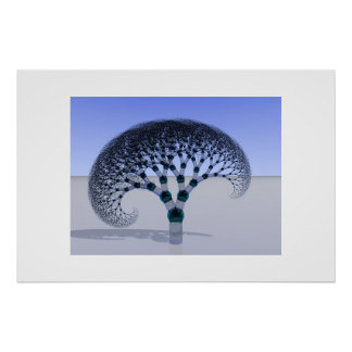 Árbol de cristal póster