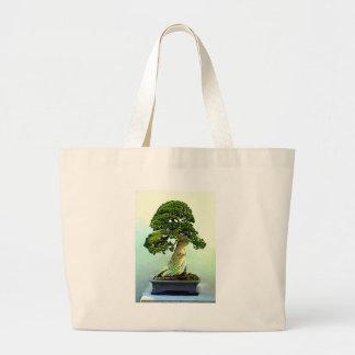 Árbol de Cypress de los bonsais Bolsa Tela Grande