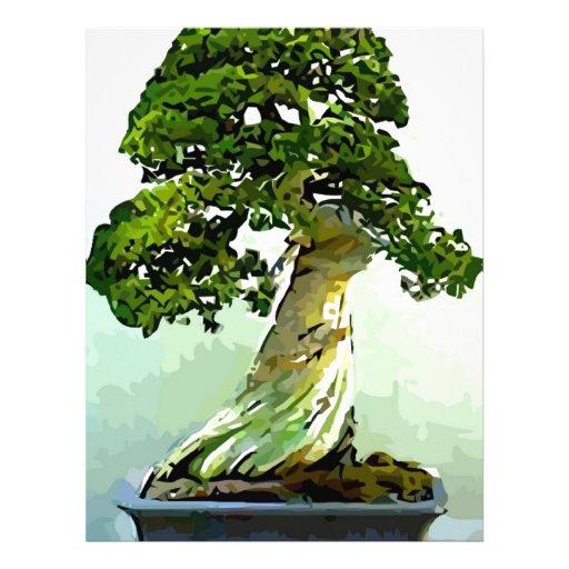 Árbol de Cypress de los bonsais Membrete Personalizado