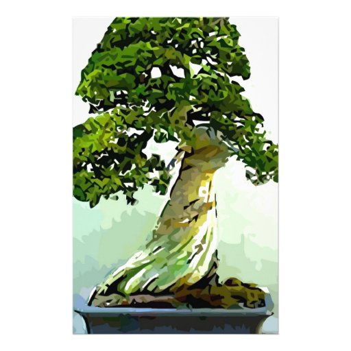 Árbol de Cypress de los bonsais Papeleria De Diseño